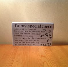 Chunky freestanding wooden plaque/sign Special by JJAdorableCrafts, £10.00