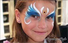 Princess Face Painting Designs. Could do similar with different centre piece