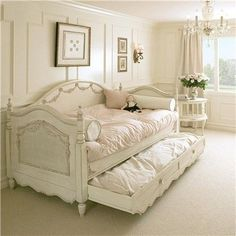 A great Shabby Chic look and feel! This collection creates treasured childhood furnishings with a focus on quality craftsmanship and classic style. Beautifully feminine, this Daybed fashions a modern-