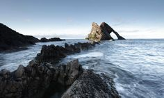 The Bow Fiddle Rock at Portknockie, Moray, Scotland