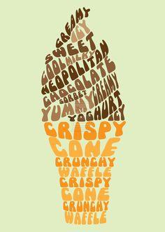 Typographie ice cream.