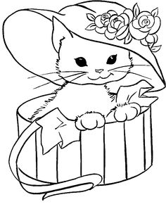 Top 20 Free Printable Cat Coloring Pages For Kids | Cat, Collection ...