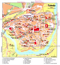 Toledo Map - Tourist Attractions