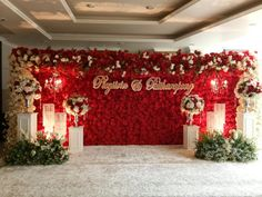 Wedding Backdrop Design, Wedding Hall Decorations, Wedding Reception Backdrop, Wedding Entrance, Engagement Decorations, Entrance Decor, Flower Decorations, Naming Ceremony Decoration, Marriage Decoration