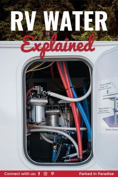 Beginner guide to RV water systems. How to sanitize your motorhome fresh water tank and empty black and grey water tanks. Accessories and gadgets you need to clean a travel trailer plumbing system. Travel Trailer Camping, Rv Camping Tips, Retro Camping, Camping Gadgets, Camping Car, Camping Ideas, Camping Checklist, Camping Places, Camping Supplies