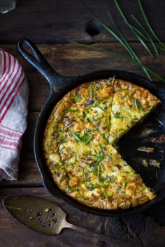 The Bojon Gourmet: Potato and Green Garlic Crustless Quiche with Goat Cheese, Gruyère, and Chives