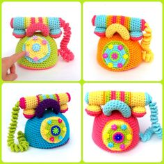 #Crochet #Toy #Telephone