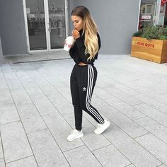 Description Item Type: Sneakers Insole Material: Rubber vamp Material: Mesh Cloth Color: Grey*Pink* Beige Source by ksrmigle and roshes outfit Adidas Joggers Outfit, Jogger Outfit, Legging Outfits, Adidas Pants, Adidas Tracksuit, Sweatpants Outfit, Adidas Shoes, Adidas Sweatpants, Mode Outfits