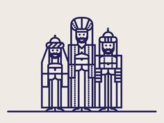 Wise Men by Patrick Mahoney - Dribbble
