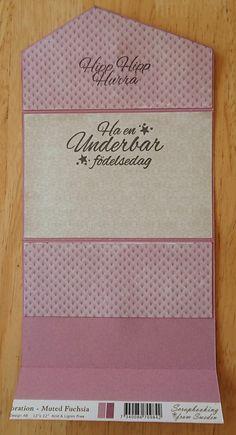 Kuvertkort med tutorial | Kristinas Scrapbooking Blogg Card Tutorials, Vintage Cards, Card Wallet, Rhinestones, Gifts, Diy, Scrapbooking, Inspiration, Card Holders