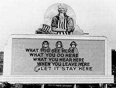 WWII Propaganda Billboards From The United States' Secret Atomic City