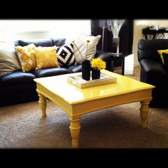 My black and yellow living room