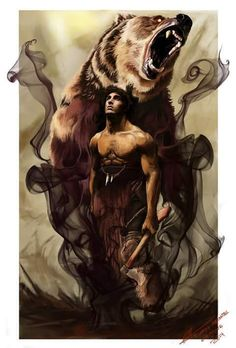 The Skin Changer by Riccasti on DeviantArt Native American Tattoos, Native American Pictures, Native American Art, American Legend, Arte Viking, Geniale Tattoos, Bear Pictures, Bear Art, Fantastic Art
