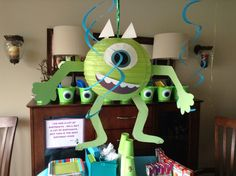 Mikey I made for my sons 3rd birthday Monsters Inc. party!