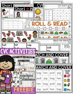 CVC words are kind of a big deal in Kindergarten. Once students master letter sounds the next step is blending to make words. As Kindergarten teachers, we need to provide our students with practice and repeated exposure through activities, games, centers, and more. That's just what you'll find in this post. Lots of great  engaging and hands-on activities and ideas. Also, click through for an exclusive sampler freebie! #printableprincess #cvcwords #kindergarten