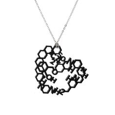 Love Chemistry Laser Cut Necklace by ZeldaWong on Etsy