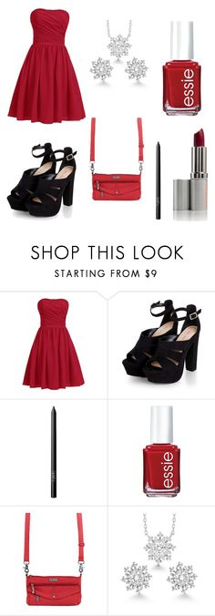 """""""Christmas Party"""" by donna-bender ❤ liked on Polyvore featuring NARS Cosmetics, Essie, Baggallini and La Preciosa"""