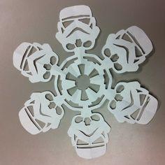 DIY Star Wars Snowflakes..done
