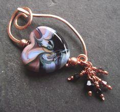 Shawl pin - brooch - fibula - perfect for Valentine's gift