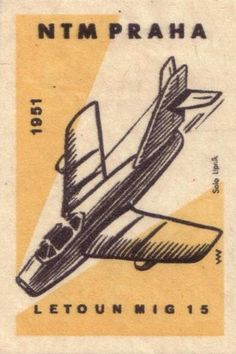 narodni technicke museum praha [national technical museum prague]. 1960. czechoslovakia. matchbox label.
