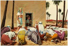 Joseph, Overseer of Egypt. His brothers bow before him, as in his dream when a youth. Part of a series. Bible Photos, Bible Pictures, Jesus Photo, Ancient History, Ancient Egypt, The Bible Movie, Biblical Art, The Brethren, Dibujo