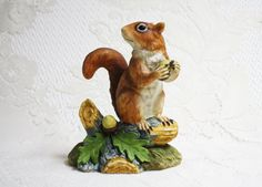Red Squirrel Porcelain Figurine Andrea by Sadek by TheTinyMerchant
