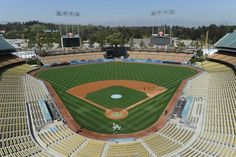 Dodger Stadium- I grew up about 5 miles from Dodger Stadium. My grandpa was a big fan and he would take us to see the games in the and Great memories. Dodgers Baseball, Baseball Field, I Love La, Dodger Stadium, Go Big Blue, Los Angeles Dodgers, Great Memories, Best Games, Girls Best Friend