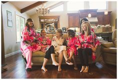 Bridal party robes, bridesmaids robes