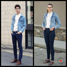 Canadian Tuxedo | Flannel Foxes Tomboy Blog