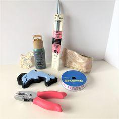 Lot of 7 Craft Supplies Hole Puncher Crayon Ribbon Knitting Needles Stamps #LilLambbyLeRoyKnitwear