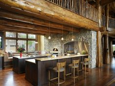 Kitchen with pizza oven