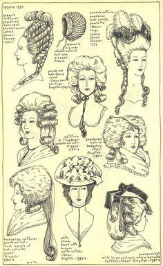 coiffure 1770-1780