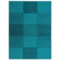 Oakland Squares Teal Rugs | Modern Rugs