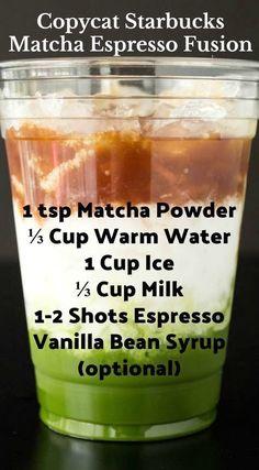 health drinks How To Make Starbucks Matcha Espresso Fusion Drink Starbucks Recipes, Starbucks Drinks, Coffee Recipes, Espresso Recipes, Starbucks Coffee, Espresso Drinks, Coffee Drinks, Coffee Coffee, Tea Drinks