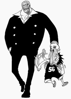Monkey D. Garp and Monkey D. Luffy XD