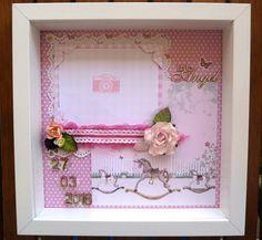 """Box frame """"Little Angel"""" for new born baby girl"""
