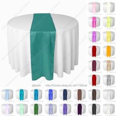 Teal-table-runner-chair-sash-wedding-party-banquet-ball-more-colors-in-our-shop