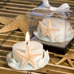 Starfish+Design+Favor+Saver+Candle+Favors