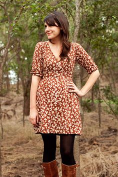 Maybe I'm getting ahead of myself, but would this button-up dress be any good for breast feeding? Darling Ranges dress sewing pattern