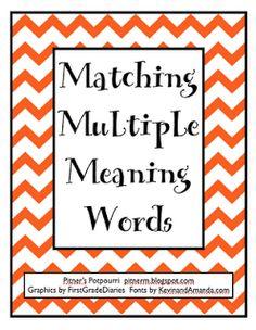 Multiple Meaning Words -- Freebie
