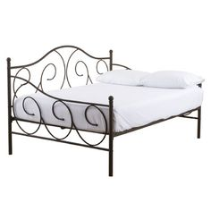 Andover Mills Crestshire Metal Scroll Daybed Reviews Wayfair With Images Twin Daybed With Trundle Daybed