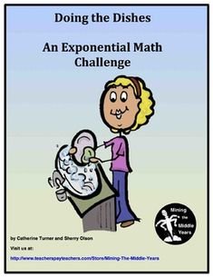 This middle school math project can be used to help reinforce the amazing power of exponents (exponential growth). Students are given a fun math challenge activity which guides their thinking (Reflection Sheet) in understanding how quickly exponential growth increases.