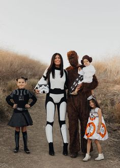 ShopStyle Look by mintarrow featuring Rubie's Star Wars Female Stormtrooper and Rubie's Men's Star Wars Classic Adult Deluxe Chewbacca Costume and Mask Adult Costume Matching Family Halloween Costumes, Disney Family Costumes, Star Wars Halloween Costumes, Cute Halloween Costumes, Zombie Costumes, Diy Costumes, Costume Ideas, Homemade Costumes, Homemade Halloween
