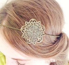 "Headband - Bijoux de tête "" Ma Rosace """