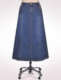 0c96f491128 15 Best Floor length denim skirts images