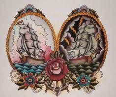 Ship Tattoo Art