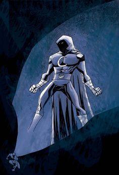 Moon Knight by Michael Avon Oeming Comic Book Characters, Comic Book Heroes, Marvel Characters, Comic Character, Comic Books Art, Comic Art, Marvel Villains, Book Art, Marvel Comics Art
