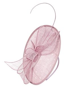 Pink Single Quill Oval Fascinator