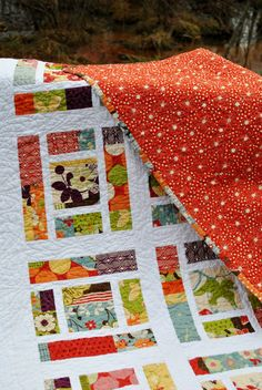 sweetjane  PDF baby quilt PATTERN or Lap Quilt.... Layer Cake, Fat Quarters, or scraps ...Sassy Frass