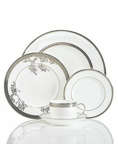 Vera Wang Wedgwood Dinnerware, Lace Collection Macy's & BBB $149 Setting  From a distance